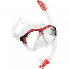 Cressi Matrix Maske + Snorkel, Rød