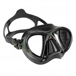 Cressi Nano Black Maske, Grøn