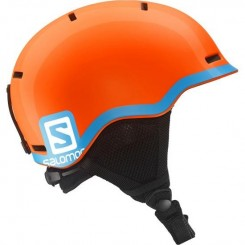 Salomon Grom Fluo JR Hjelm, Orange