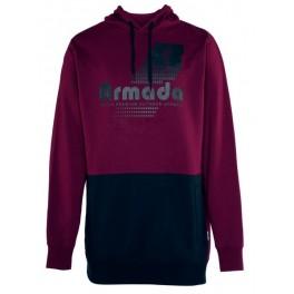 Armada Multiply Pullover Tech Hoodie, Burgundy