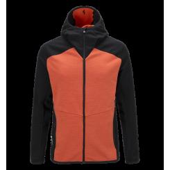 Peak Heli Midlayer Hooded Red Orange