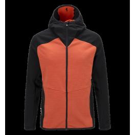 2e0b7ae75af Peak Heli Midlayer Hooded Red Orange