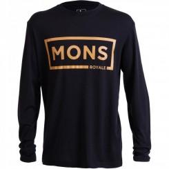 Mons Royale Baselayer LS, Black