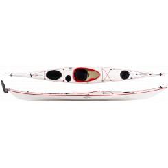 Tahe Marine Reval Mini LC TGC Glasfiber Kajak m/finne og ror