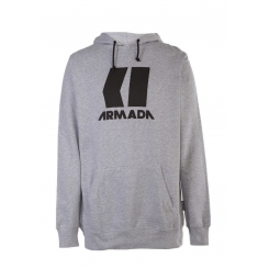 Armada Icon Hoodie, Heather Grey/ Black