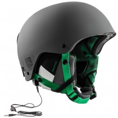 Salomon Brigade Audio Helmet, Grey/Forrest green