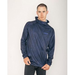 Armada Rotor Light Hooded Tech Tee LS, Navy Fitz