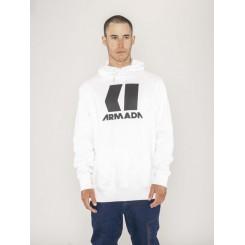 Armada Icon Hoodie, White/Black