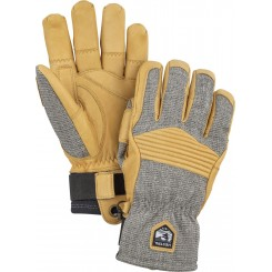 Hestra Army Leather Couloir, light grey/yellow