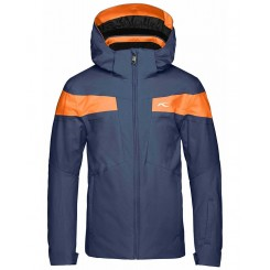 Kjus Boys Corbet Jacket, Atlanta Blue/Orange