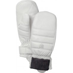 Hestra Alpine Leather Primaloft Mitt, Offwhite