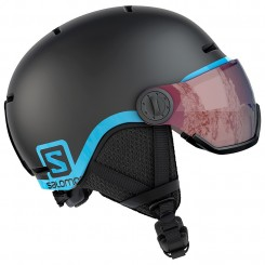 Salomon Junior Grom Hjelm med Visir, Sort