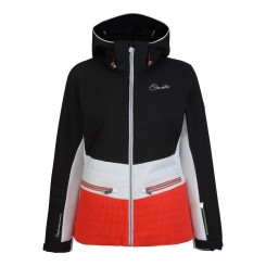 Dare 2B W Surpass Jacket, Black White Lollipop Red