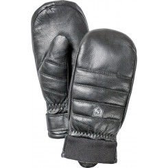 Hestra Alpine Leather Primaloft Mitt, Black