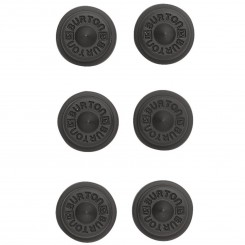 Burton Aluminium Stud Stomp Pad 6-Pack, Black