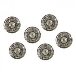 Burton Aluminium Stud Stomp Pad 6-Pack, Metal