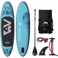 "Aqua Marina 9'10"" Vapor oppustelig sup 2019 pakke"