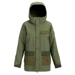 Burton W Runestone Jacket, Clover/Forest Night/Hickory