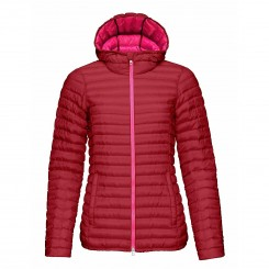 Kjus W Cypress Hooded Down Jakke, Persian Red/Magenta