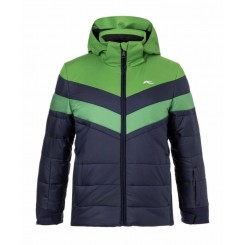 Kjus Boys Downforce Jacket 18/19, Atlanta Blue/ Green Leaf