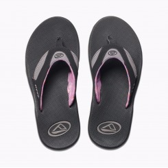 Reef Women's Fanning Sandal, Black/Grey