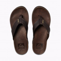 Reef J-Bay Leather Sandal, Dark Brown/Dark Brown