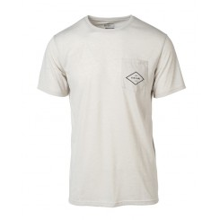 Rip Curl Essential Surfers Short Sleeve Pocket Tee, Bone Marle