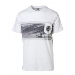 Rip Curl Action Original Short Sleeve Pocket Tee, Optical White