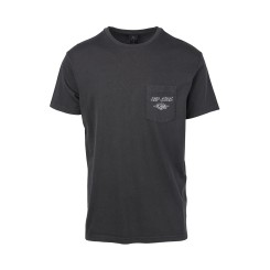 Rip Curl So Authentic Short Sleeve Pocket Tee, Anthracite