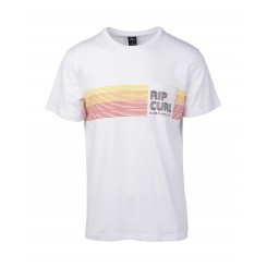 Rip Curl Close-Out Short Sleeve Pocket Tee, Optical White