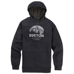 Burton OAK Hoodie, True Black Heather