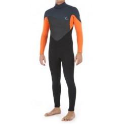 Rip Curl Omega 3/2 Back Zip Våddragt 2020, Black/Orange