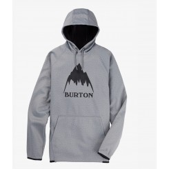 Burton Crown Weatherproof Pullover Fleece 20/21, Grey Heather