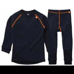 Helly Hansen Kids Lifa Merino Sæt, navy/orange