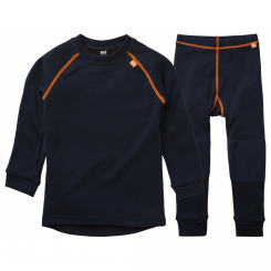 Helly Hansen Kids Lifa Merino Sæt, navy/orange