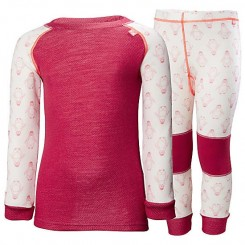 Helly Hansen Kids Lifa Merino Sæt, persian red