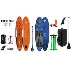 Aqua Marina Fusion 10'10'' + STX Storm 10'4'' Blå Oppustelig SUP Pakke