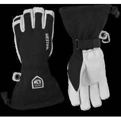 Hestra Army Leather Heli Ski 5F, Black, T/E