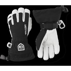 Hestra Army Leather Heli Ski 5F Junior, Black, T/E
