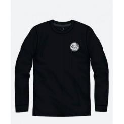 Rip Curl Wettie Logo L/SL UV Tee, Black